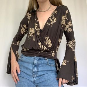 Free People Soft Floral Long Sleeve